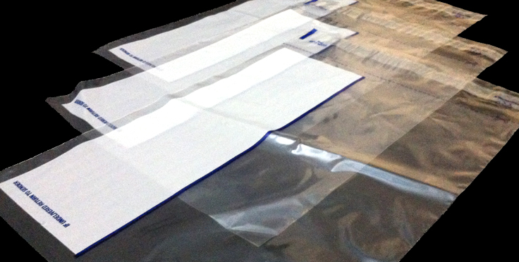 Clear Poly Envelope with Write on Panel