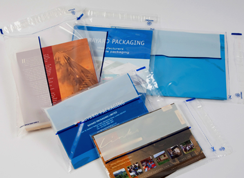 Clear Plastic Envelopes with a write on panel