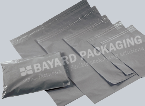 Grey Recycled Plastic Mailing Bags