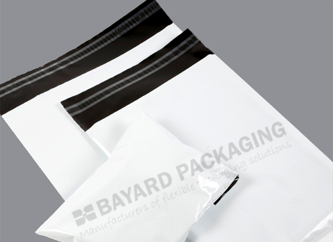 White Opaque Plastic Envelopes - 38 micron