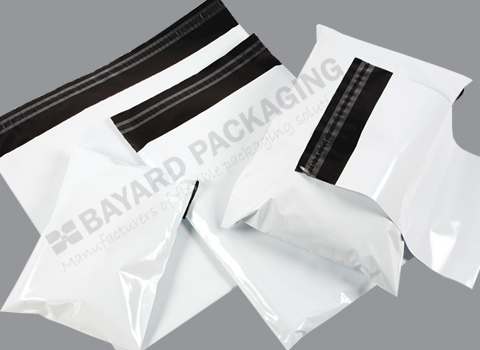 White Opaque Plastic Envelopes - 75 micron