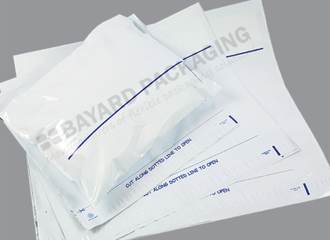 White Extra Strong Bags with a write on panel