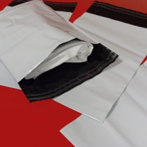 250mm x 350mm White Mailing Bags 55mu
