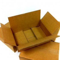 Single Walled Boxes: 296mm x 206mm  x 80mm - Pack of 25