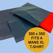 GREY02 - Pack of 500 - Grey Poly Mailing Bags 300mm x 350mm