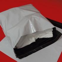 430mm x 430mm White Mailing Bags 70mu