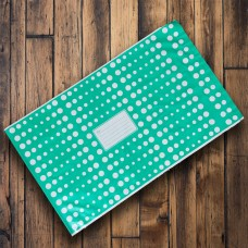 Pack of 25 - 325mm x 485mm Green with White Polka Dots