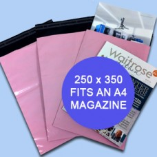 250mm x 350mm Pink Mailing Bags