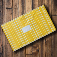 Pack of 25 - 325mm x 485mm Yellow with White Polka Dots
