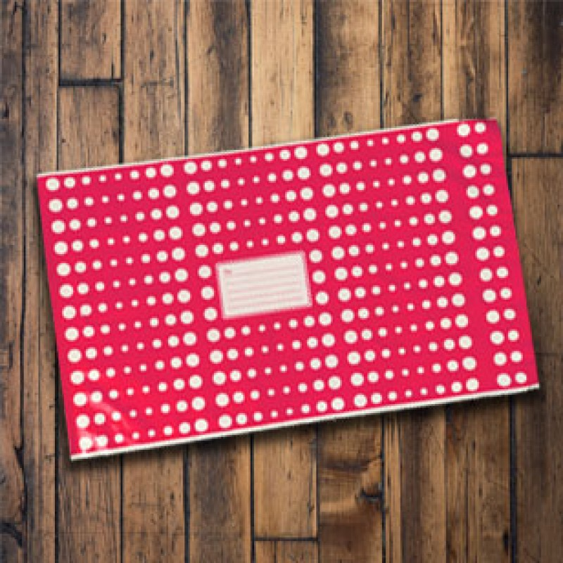 250mm x 350mm - Pink with White Polka Dots