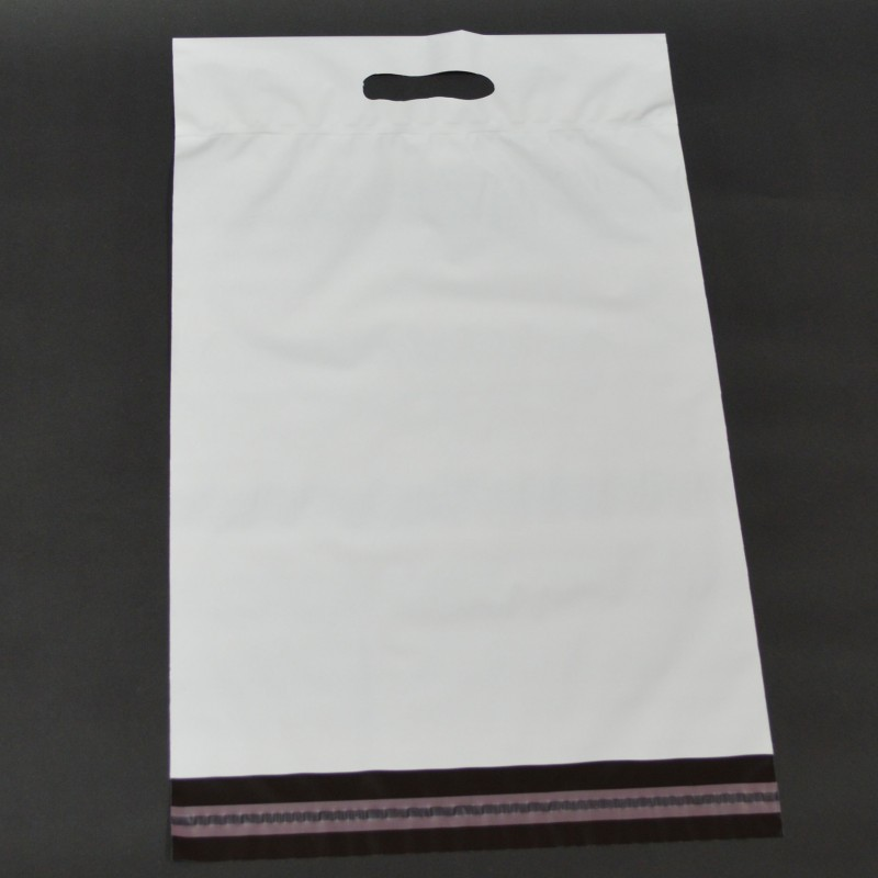 White Mailing Bags with a Carry Handle 325mm x 430mm