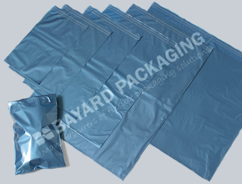 Blue Metallic Mailing Bags