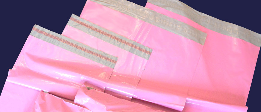 Pink Mailers - 55 micron