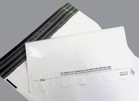 Returnable White Opaque Mailing Bag