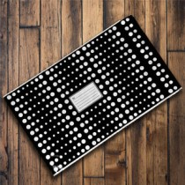 250mm x 350mm - Black with White Polka Dots