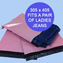 305mm x 405mm Pink Mailing Bags