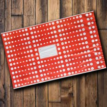 250mm x 350mm - Red with White Polka Dots