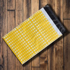 Pack of 25 - 250mm x 350mm Yellow with White Polka Dots