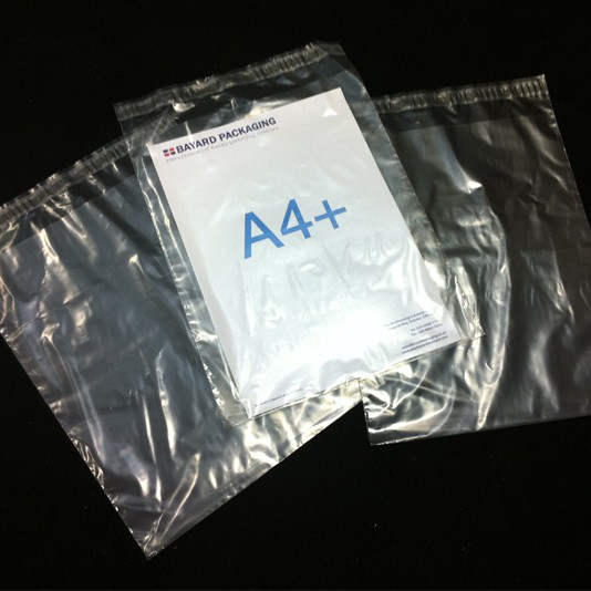 250mm x 305mm Clear Poly Envelopes