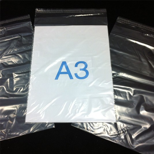 305mm x 455mm - Clear Poly Envelopes