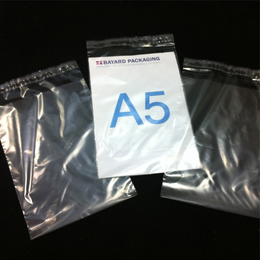 165mm x 230mm Clear Poly Envelopes