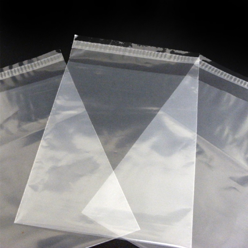 230mm x 305mm Clear Poly Envelopes - 38 micron