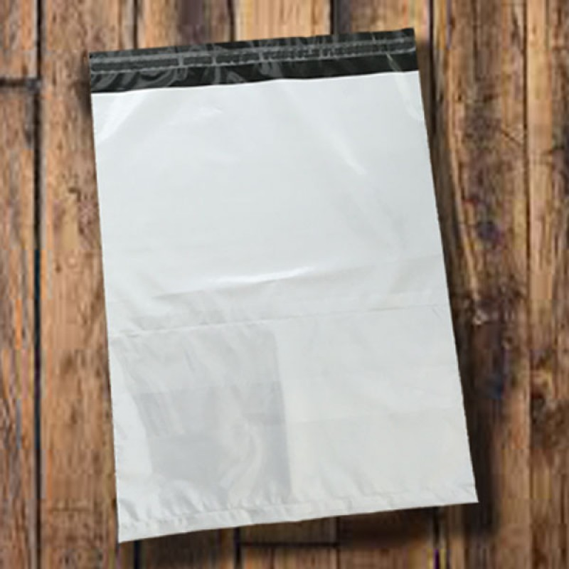 Polythene Courier Bags 360mm x 450mm with Pouch