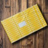 325mm x 485mm - Yellow with White Polka Dots